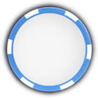 Poker chip blue