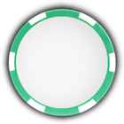Poker chip green