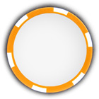 Poker chip orange