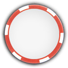 Poker chip red