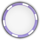 Poker chip purple