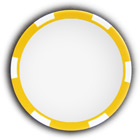 Poker chip yellow